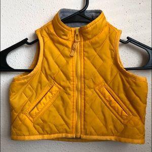Baby Gap yellow vest